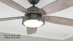 Hunter Channelside 52 in. LED Indoor/Outdoor Noble Bronze Ceiling Fan with Remote - The Home Depot : Hunter Channelside 52 in. LED Indoor/Outdoor Noble Bronze Ceiling Fan with Remote Control – 59040 – The Home Depot Ceiling Fan In Kitchen, Kitchen Fan, Rustic Ceiling Fans, Modern Ceiling Fans, Industrial Ceiling Fan, Farmhouse Ceiling Fans, Mini Kitchen, Kitchen Small, Living Room Fans