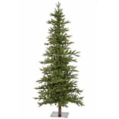 Amazon.com: 7' Pre-Lit Shawnee Alpine Style Artificial Christmas Tree - Clear LED Lights: Home & Kitchen