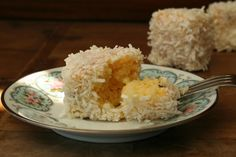 White chocolate and passionfruit lamingtons - Playing with Flour