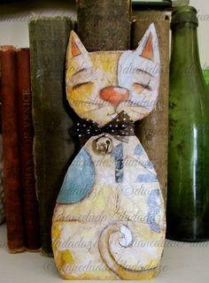 Cereal Box Art Mixed Media Cat  Kitten Number 1 by DUDADAZE, $15.00 ©dianeduda/dudadaze