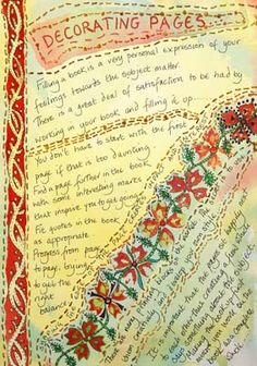 Frances Pickering is a textile artist and teacher who specialises in unique handmade books and journals Fabric Paper, Paper Art, Fabric Books, Textiles Sketchbook, Art Sketchbook, Art Journal Pages, Art Journals, Art Diary, Stitch Book