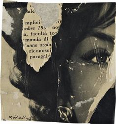 Mimmo Rotella. Riconoscimento. #Decollage La imagen es creada cortando, rasgando…