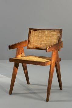 Pierre Jeanneret, office cane chair - chaise
