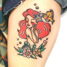 Old school Ariel tatto – - DIY Tattoo dauerhaft Dragon Tattoos For Men, Tattoos For Guys, Tattoos For Women, Vintage Tattoo Design, Vintage Style Tattoos, Body Tattoos, Life Tattoos, Hand Tattoos, Tatto Old