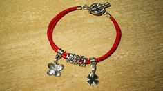 Spring red bracelet - my work. Macrame, Personalized Items, Spring, Bracelets, Red, Leather, Handmade, Jewelry, Bangles