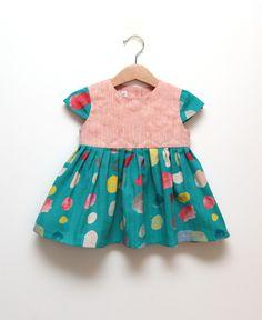 Custom made dress for little girls 1st birthday. #naniiro #girls #dress #heirloom #natural #linen #modern