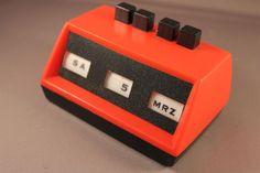 Vintage Original 60s 70s perpetual perpetual desk calendar RED Pop Design Very cool German Seventies Design