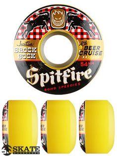 Spitfire 80HD's Brock Bock Beer Cruiser Wheels Skateboard Wheels, Skateboarding, Skating, Beer, Root Beer, Roller Blading, Ale, Skateboard, Skateboards
