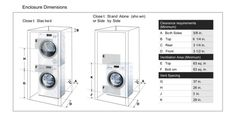 stackable washer and dryer dimensions in mm - Google Search