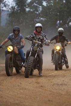 Scramble 'em good :D  Scrambler race #riding #motorcycles #motos | caferacerpasion.com
