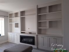 Bespoke TV unit with electric fire Electric Fires, Tv Unit, Bespoke, Cabinets, New Homes, House, Furniture, Home Decor, Resurfacing Cabinets