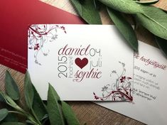 """Einladungskarte """"Modern Romantic"""" Romantisch zur Hochzeit Modern, Playing Cards, Container, Paper, Create Quotes, Invitation Text, Invitations, Birth, Game Cards"""