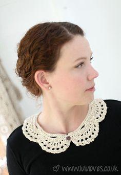 Crochet Lola Collar - Lululoves                                                                                                                                                                                 More