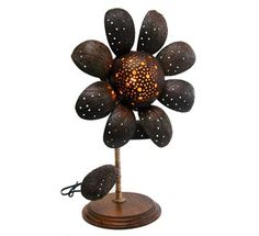 Coconut Shell Table Lamp
