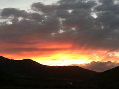 Sunset at Ecker Hill, Park City, UT