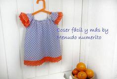 Hoy vas a aprender un trabajo más de costura, en concreto, a elaborar esta blusa o vestido para el verano para niñas.