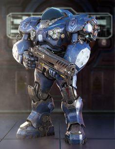 Umojan guard Unit. SC2 fanart by Alessandro Manzani   Robotic/Cyborg   3D   CGSociety