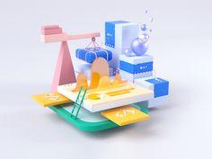 Product Team Illustrations designed by Jeremiah Shaw. Connect with them on Dribbble; Global Design, 3d Design, App Design Inspiration, 3d Studio, 3d Artwork, Science Art, Dota 2, Wedding Humor, Cinema 4d