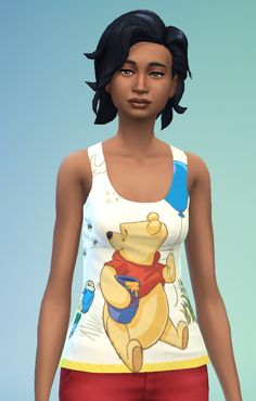 Sims 4 Updates: Sweet as can bee tank top at SimFeetUnder