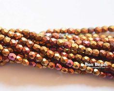 3mm Metallic Iris Mix Round Fire Polished @ www.bonbeads.com