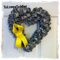Jessica garner.. I see this on your door!! Or what a great FRG fund raiser?  you could make them out of old uniforms
