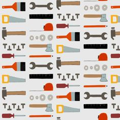 Tools and tools fabric by boringpalace on Spoonflower - custom fabric