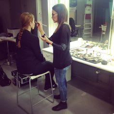 Make up Riina -blogin Riina kävi tekemässä LivBoxin tiimille kuvausmeikit.