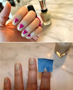 Masking Tape Manicure DIY why didn't I think of that
