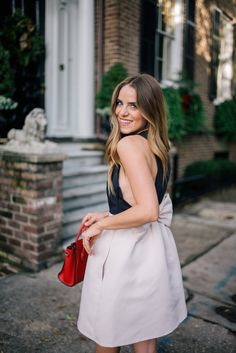Gal Meets Glam Double Bows - Kate Spade New York dress c/o Zappos Luxury