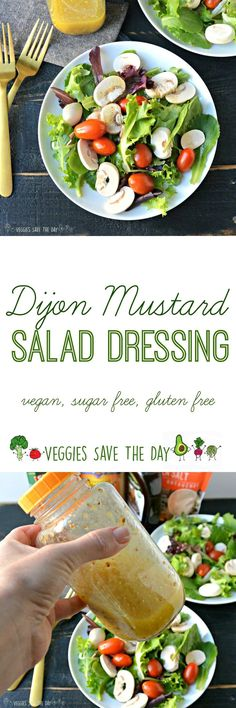 You'll want to eat a salad every day when you serve it with this healthy and delicious Dijon Mustard Salad Dressing. (vegan, sugar free, gluten free) Get your $3 Grocery Outlet coupon: https://ooh.li/8d2aa08 #ad #NOSHwithGroceryOutlet #NewYearNewNOSH