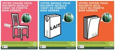 Campagne affiches sectorielles FSC France France, Sustainable Development, Brick, Rural Area, Posters