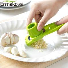 Blanc Ail Presse-fruits presse broyeur de cuisine cuisson outil plastique blanc