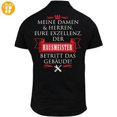 Männer und Herren POLO Shirt Eure Exzellenz DER HAUSMEISTER (mit Rückendruck) (*Partner-Link)