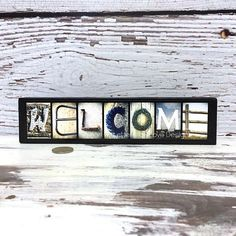 WELCOME Sign Wood Photo Letter Art Wall by LettersOfLoveDesigns