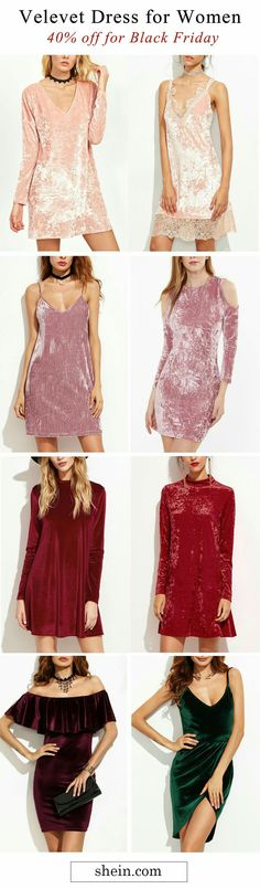 Velvet dresses for woman