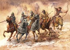 Sarmatian Warriors - By Radu Oltean Ancient Persia, Ancient Rome, Ancient History, Historical Art, Historical Pictures, Military Art, Military History, Rome Antique, Dark Ages