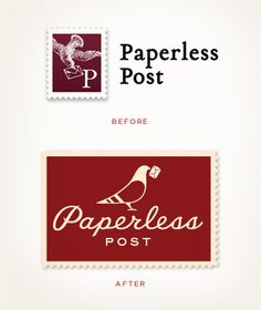 Louise Fili Ltd, Paperless Post #identity (Before & After)