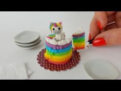 Unicorn cake / Miniature cooking / Mini Food / Jenny's mini cooking show / 食べれるミニチュア - YouTube