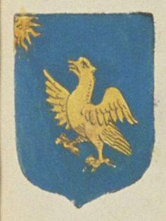 François DE BEAUREGARD, écuyer, sieur de Monfrebœuf. Porte : d'aur, à un aigle d'or, regardant un soleil de même, naissant de l'angle dextre du chef | N° 322