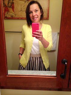 Make Mad Men Modern: A Loft Skirt Preview #spring #skirts #stripes