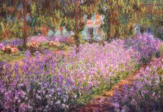Konstnärens trädgård i Giverny, ca 1900|The Artist's Garden at Giverny, c.1900 Konsttryck