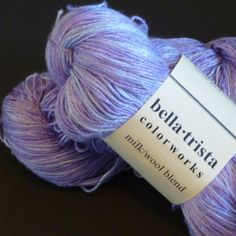 Purple Sky Milk Yarn: hand-dyed lace weight by BellaTrista on Etsy