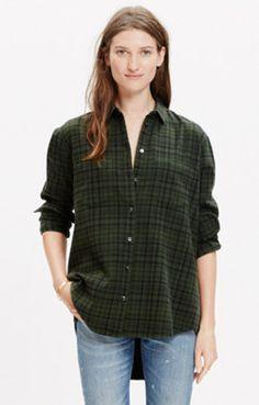 Flannel Oversized Boyshirt in Roland Plaid