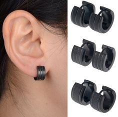 Cheap fashion stud earrings, Buy Quality stud earrings directly from China mens stud earrings Suppliers: Punk 1 Pair Black Stainless Steel Mens Stud Earrings Frosted Fashion Gothic Unisex Jewelry Punk Earrings, Black Earrings, Circle Earrings, Stud Earrings, Moda Punk, Black Stainless Steel, Style Vintage, Diamond Jewelry, Jewelry Accessories