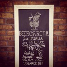 Cinco de Mayo. Beergarita Chalkboard. #chalkboard