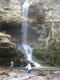 Ferne Clyffe state park waterfall - Popular tourist attraction in southern Illinois  Near Goreville, IL off of I57.