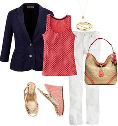 I have got to get some blazers and cute blouses :) oh and pants that aren't blue jeans :)