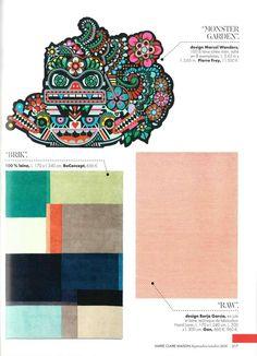 """Seguimos de actualidad! Artículo sobre la alfombra """"Monster Garden"""" de Marcel Wender para Pierre Frey en Marie Claire Maison, somos #distribuidores #decoracion #PapelesPintados #telas"""