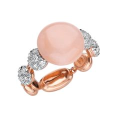 Chantecler Chantecler of Capri Pink Coral and Diamond Ring