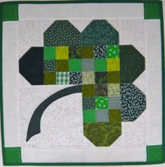 Shamrock Quilt - Table Topper - Etsy - Sold - sea68357